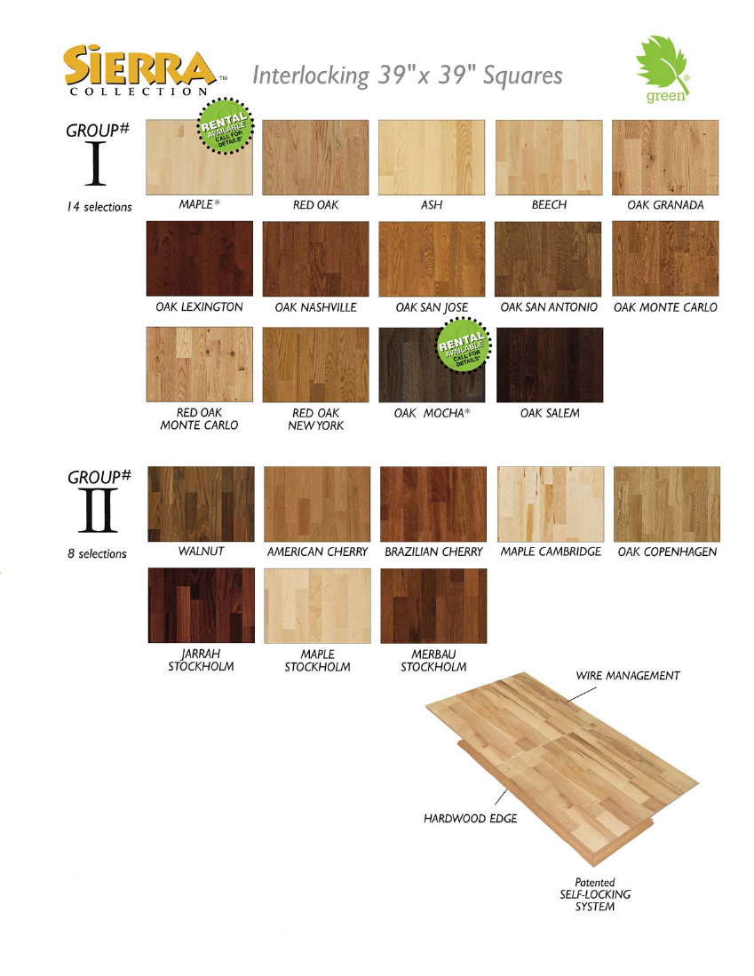 Hardwood Flooring - Group III Bamboo: Flat Grain Natural, Vertical Grain Natural, Flat Grain Caramelized, Vertical Grain Caramelized