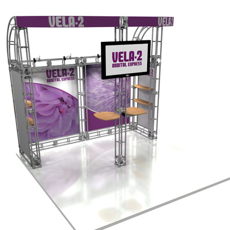 Vela-2 Truss System Display, Trade Show Display Systems