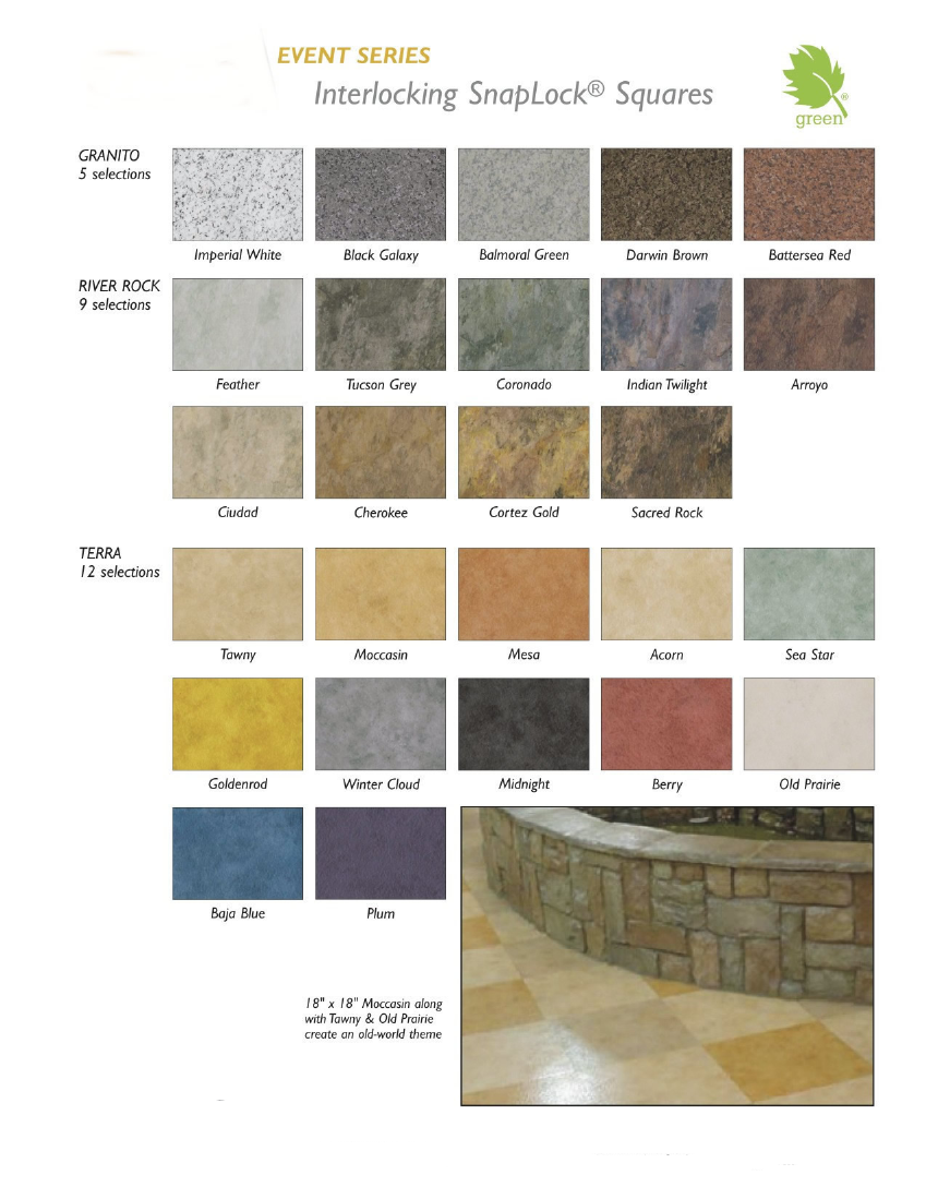 Centiva on Snaplock Portable Trade Show Flooring:  14 Styles and 90 Colors