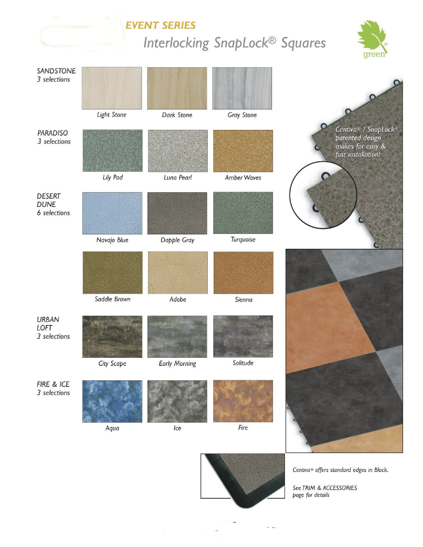 Centiva on Snaplock Portable Trade Show Flooring:  14 Styles and 90 Colors page 2