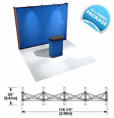 PRS1-F Fabric Pop Up Trade Show Display, Booth or Exhibit