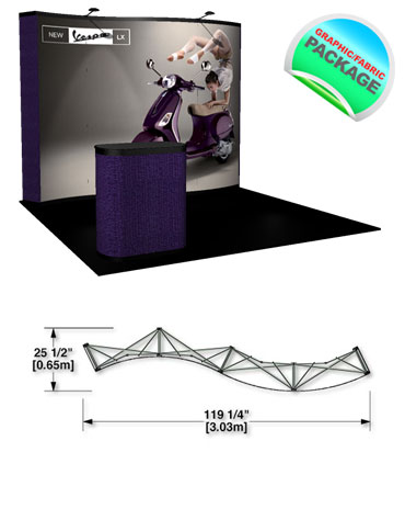 PRC13-G4 Wave Pop Up Trade Show Displays